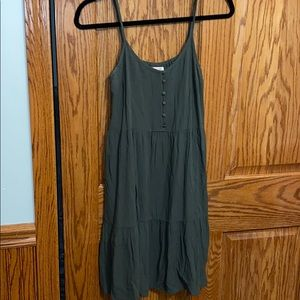 Olive green summer dress. Size small. Target